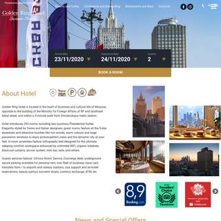 Golden Ring Hotel Moscow Official Site