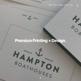 Premium Printing + Design - Dolce Press - Business Cards and Stationery