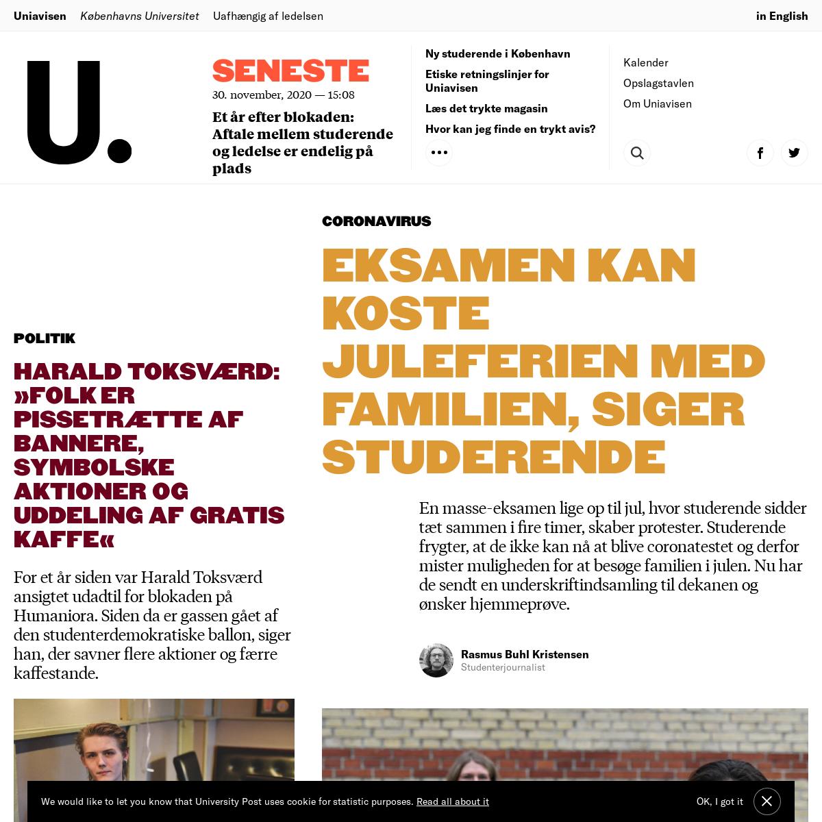 Uniavisen - Københavns Universitets kritiske, uafhængige avis