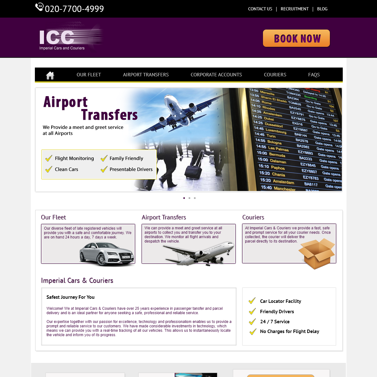Book Airport Transfer Here, London, UK - Imperial Cars & Couriers