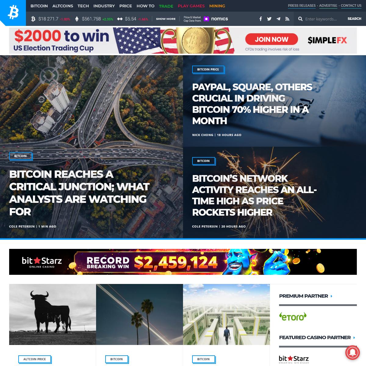 Bitcoin News, Recent Updates, Price and Analysis – Bitcoinist