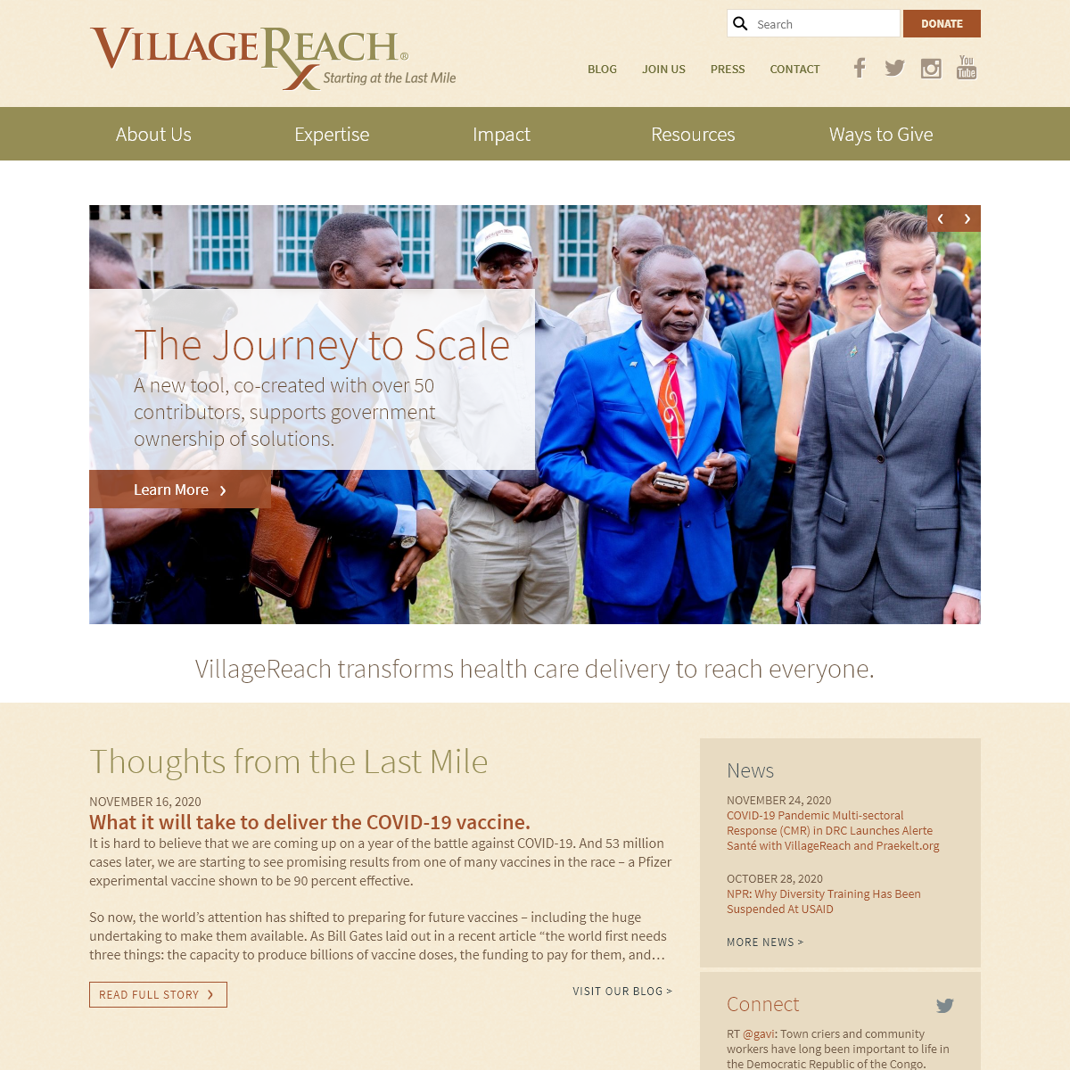 VillageReach transforms health care delivery to reach everyone.