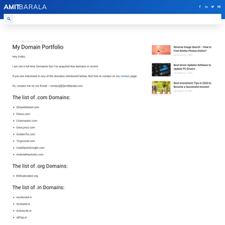 My Domain Portfolio - Buy Hight Authority Domains - Amit Barala