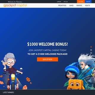 Online Casino- Get $1000 Welcome Bonus at Jackpot Capital - Jackpot Capital Online Casino