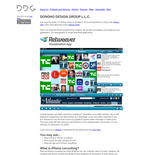Donoho Design Group L.L.C. - An iPad and iPhone Consulting Company