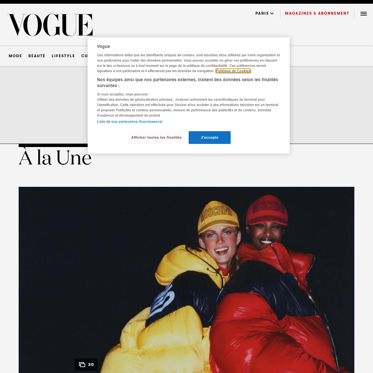 Vogue Paris - News Mode, Beauté, Culture...Découvrez les dernières tendances