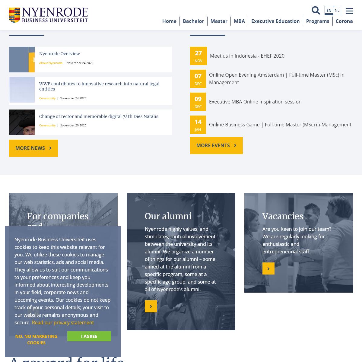 Nyenrode Business Universiteit - a reward for life