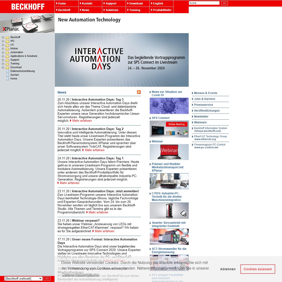 BECKHOFF New Automation Technology