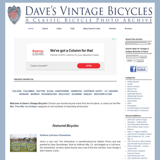 Dave`s Vintage Bicycles - The ultimate photo and information archive