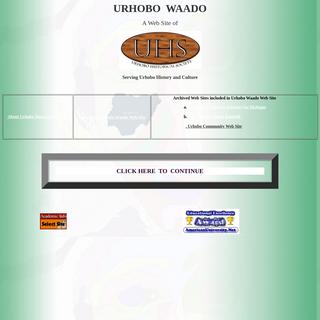 URHOBO WAADO, A Web site of Urhobo Historical Society