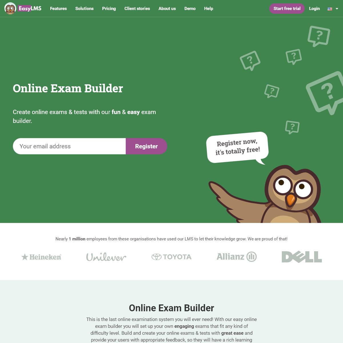 Online Exam Software to create Exams & Tests - Onlineexambuilder.com