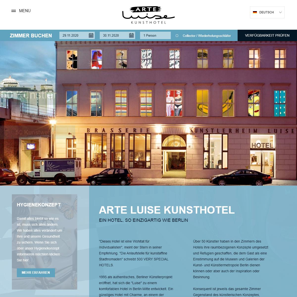 Charmantes Hotel in Berlin Mitte - Arte Luise