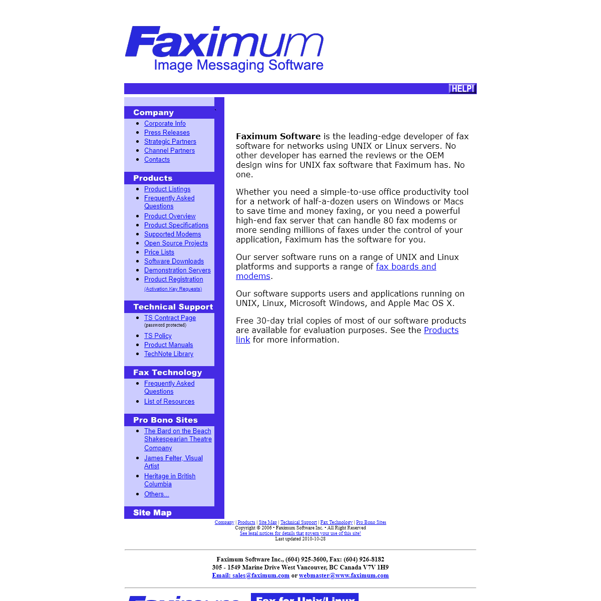 Faximum Software Inc. - Home Page