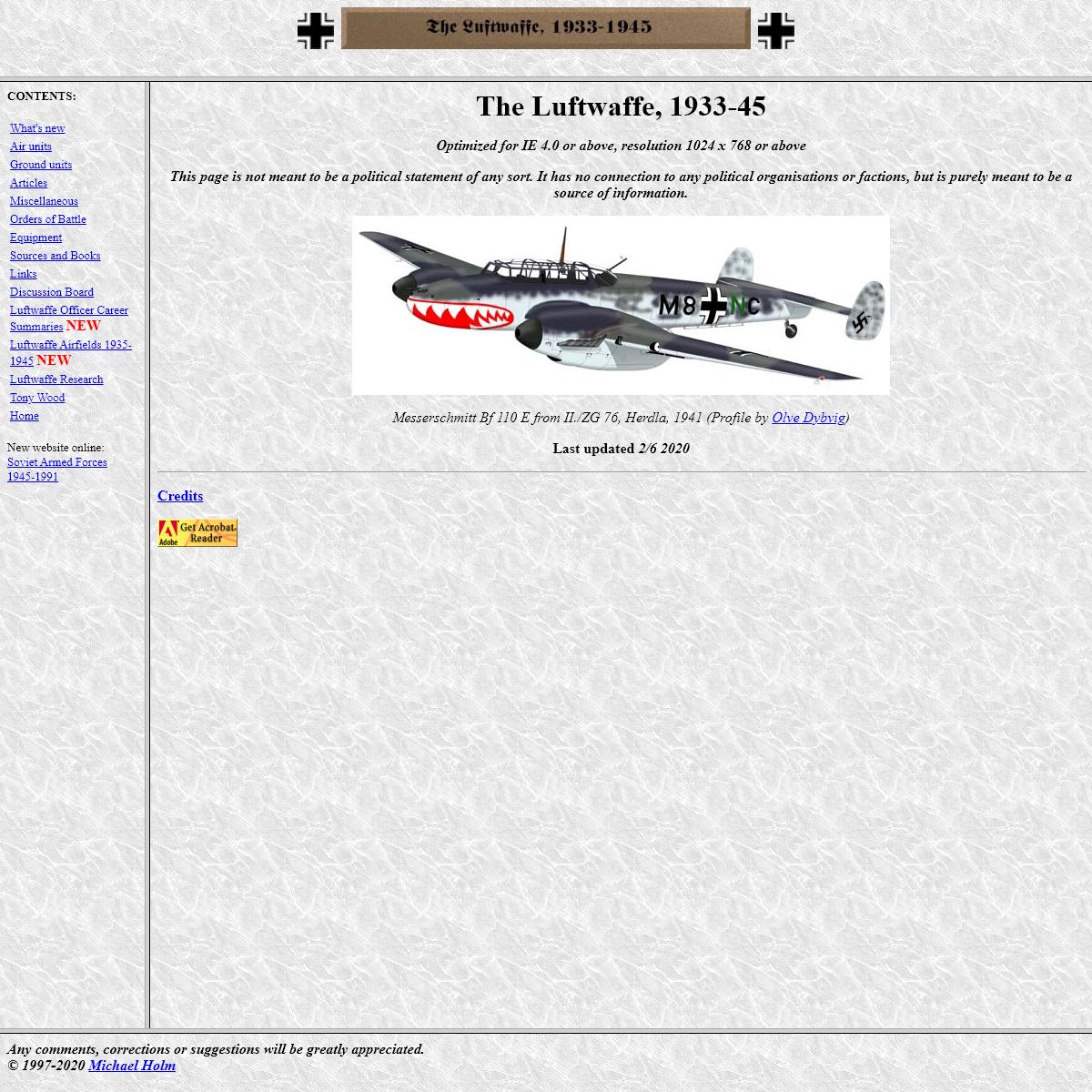 The Luftwaffe, 1933-45