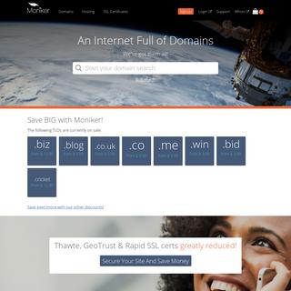 Moniker - Domain Management - Domain Name Services