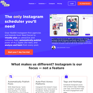 Sked Social- The #1 Instagram Scheduler and Stories Scheduling Tool