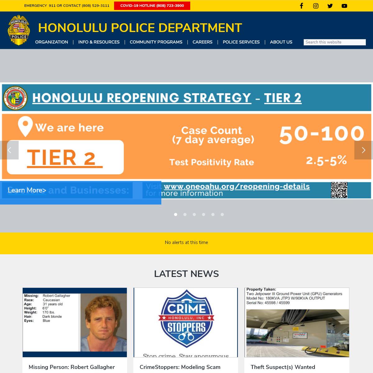 Home - Honolulu Police Department