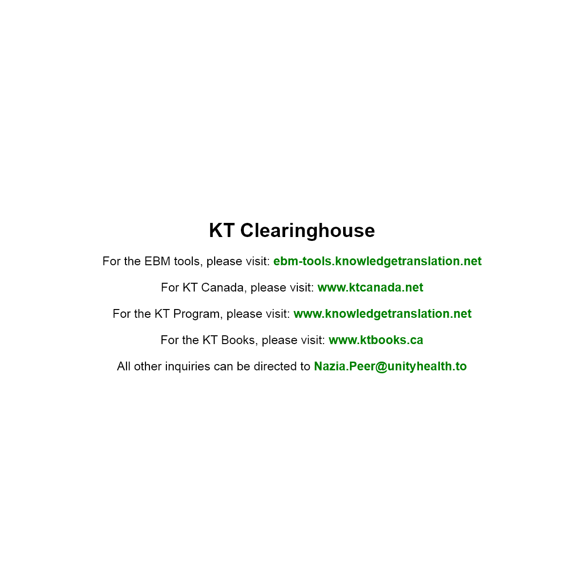 KT Clearinghouse