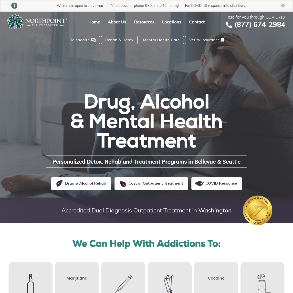 Drug & Alcohol Addiction Counseling Rehab & Treatment in Bellevue