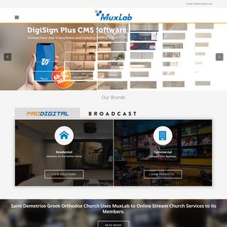 Audio Video & Broadcast Connectivity Solutions - Muxlab