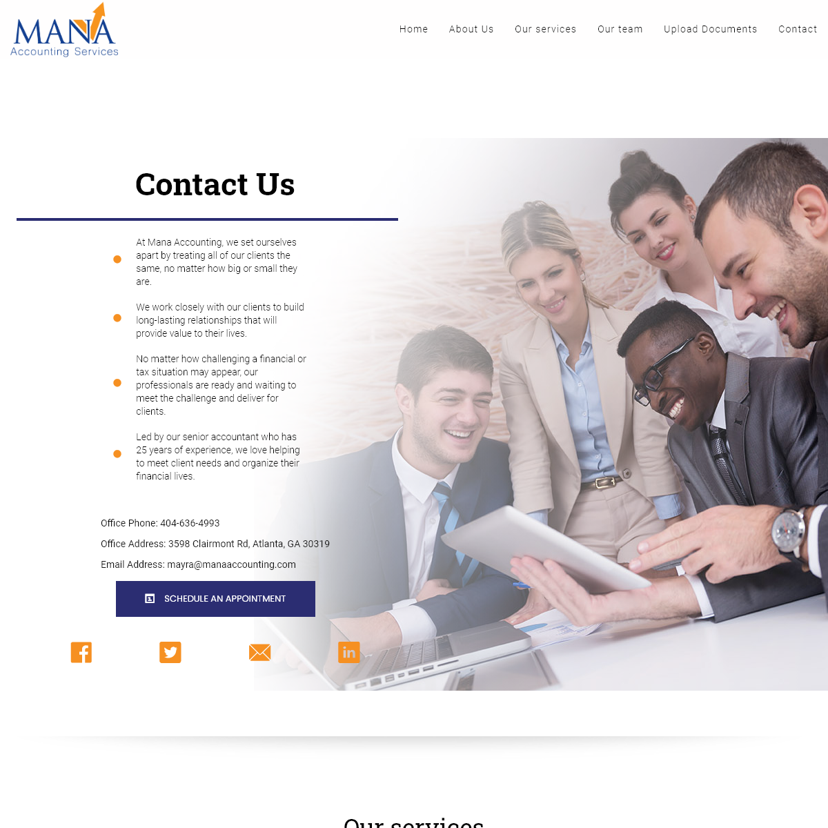 Mana Accounting – At Mana Accounting, we set ourselves apart by treating all of our clients the same, no matter how big or sma