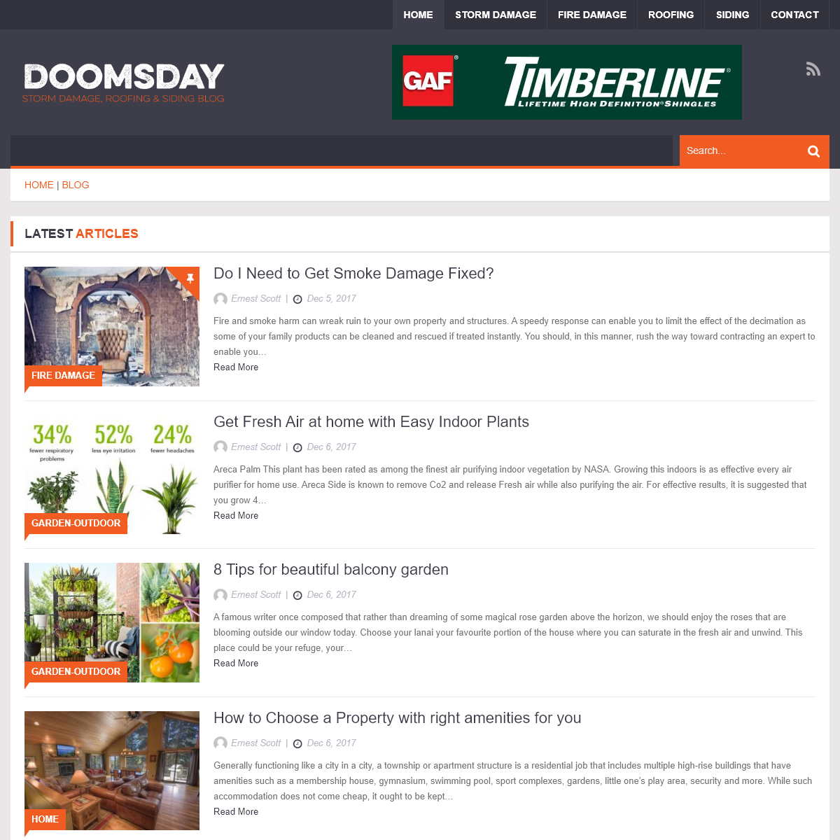 Doomsday – Storm Damage, Roofing, and Siding Blog