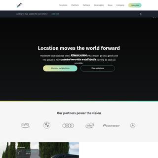 HERE Technologies - The world`s #1 location platform