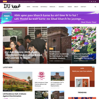 DU Beat - Delhi University`s Independent Student Newspaper - DU Beat