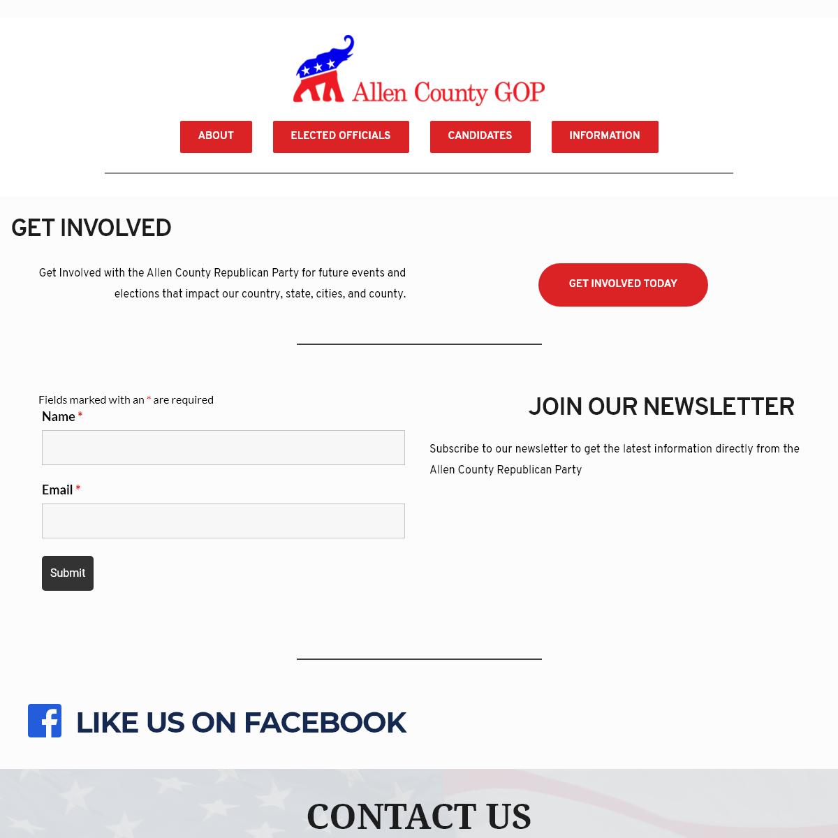 Allen County GOP – Indiana Allen County Republican Party