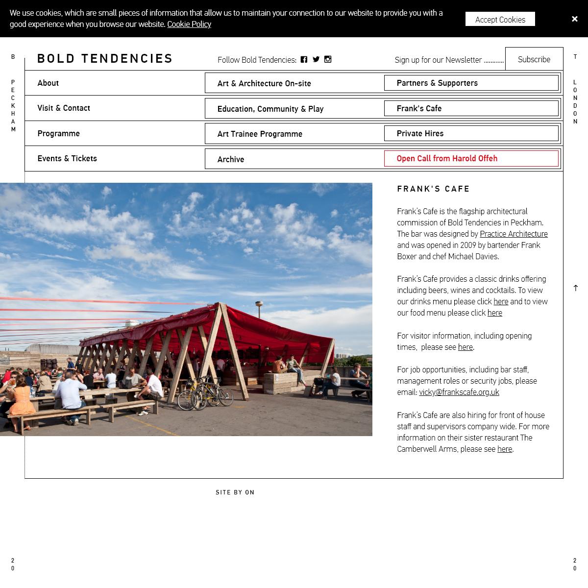 Bold Tendencies - Frank's Cafe