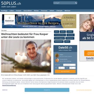 50PLUS.ch – im besten Alter, Senioren haben mehr vom Leben - 50PLUS.ch