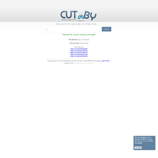 Cut.By - the simplest, the fastest and the prettiest free url shortening