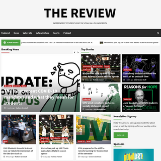 THE REVIEW - INDEPENDENT STUDENT VOICE OF UTAH VALLEY UNIVERSITY