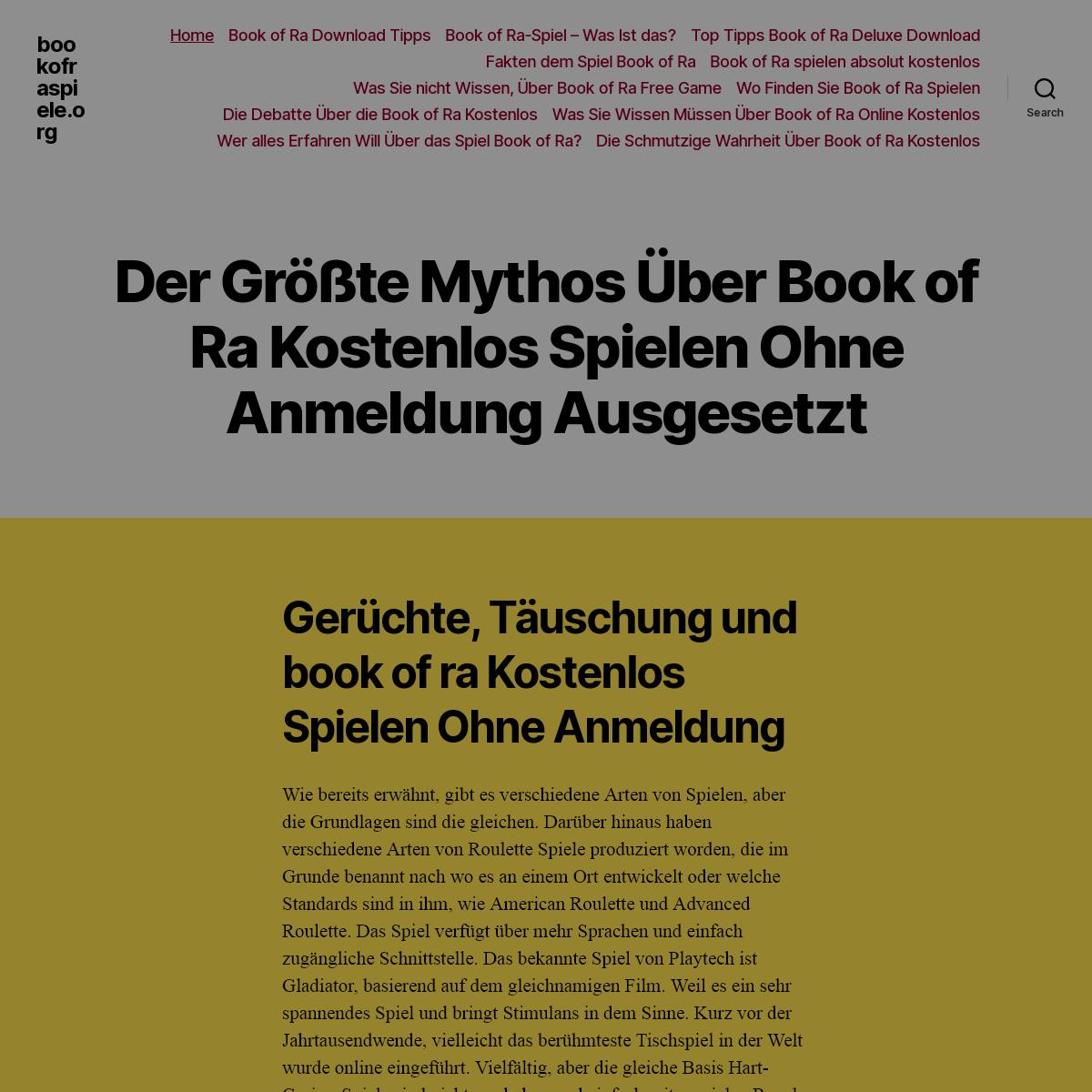 Book of Ra Slot Spielbeschreibung ✓ Deutsch ✓ Ohne Anmeldung