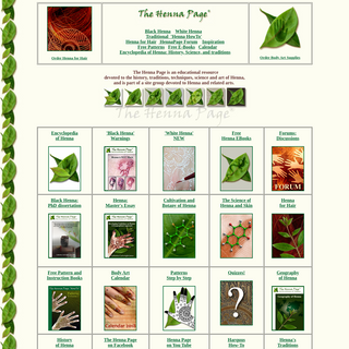 The Henna Page - The most complete henna information resource!