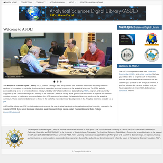 ASDL Home – ASDL home portal- gateway to ASDLib, analytical sciences community, and active learning