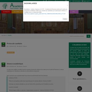 Académie Nationale de Pharmacie - Actualités