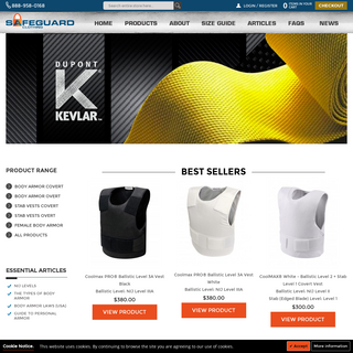 Body Armor - Bullet Proof Kevlar Concealable Armor For Sale
