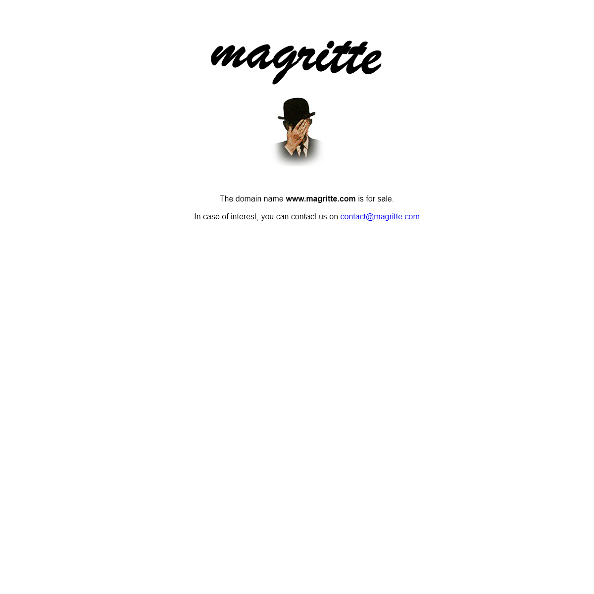 Welcome to the Magritte Site