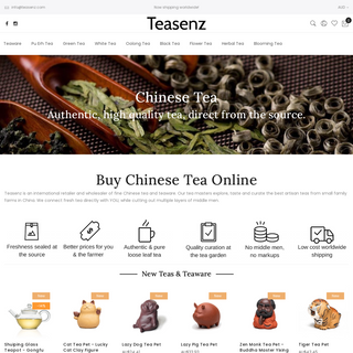 Teasenz- Buy Chinese Tea Online - Authentic & High Quality