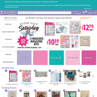 Shop for Scrapbooking Supplies Online - Paper Wishes by Hot Off The Press