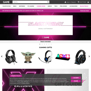 GAME - Gaming Specialist For Consoles, Games & Accessories!