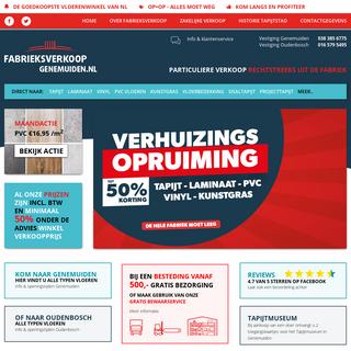 Goedkoopste vloerbedekking - fabrieksverkoopgenemuiden.nl