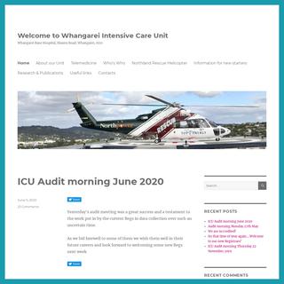 Welcome to Whangarei Intensive Care Unit – Whangarei Base Hospital, Maunu Road, Whangarei, 0110