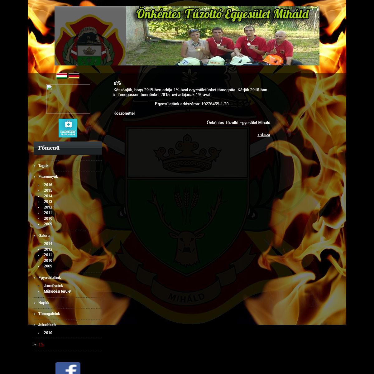 1- - Önkéntes Tűzoltó Egyesület Miháld
