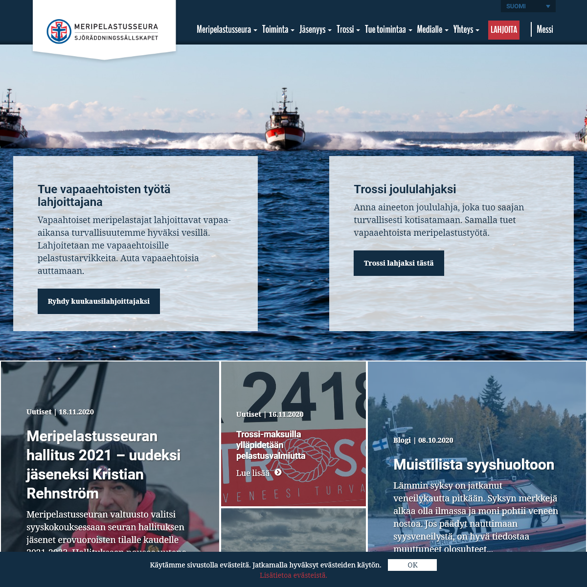 Vapaaehtoiset apunasi vesillä - Suomen Meripelastusseura