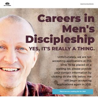 Career in Men`s Discipleship - Man in the Mirror Area Directors