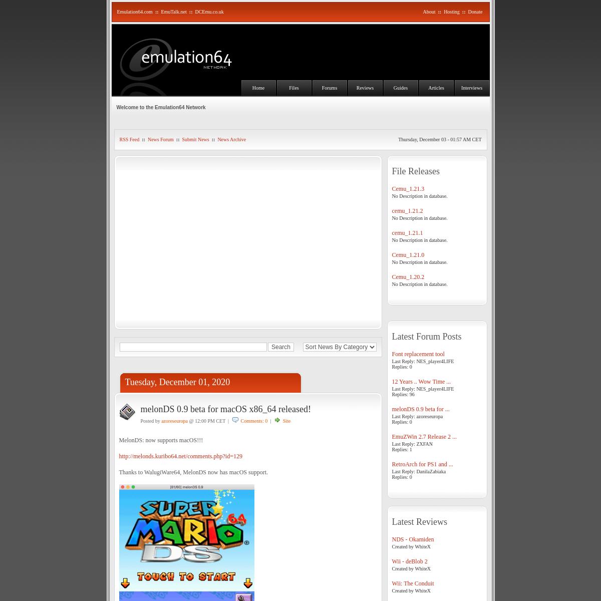 The Emulation64 Network - NextGen and Retro Emulation News and Support