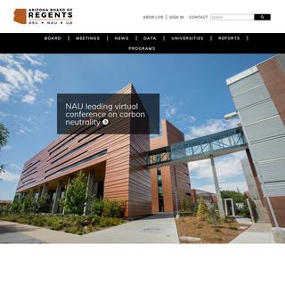 Welcome - Arizona Board of Regents