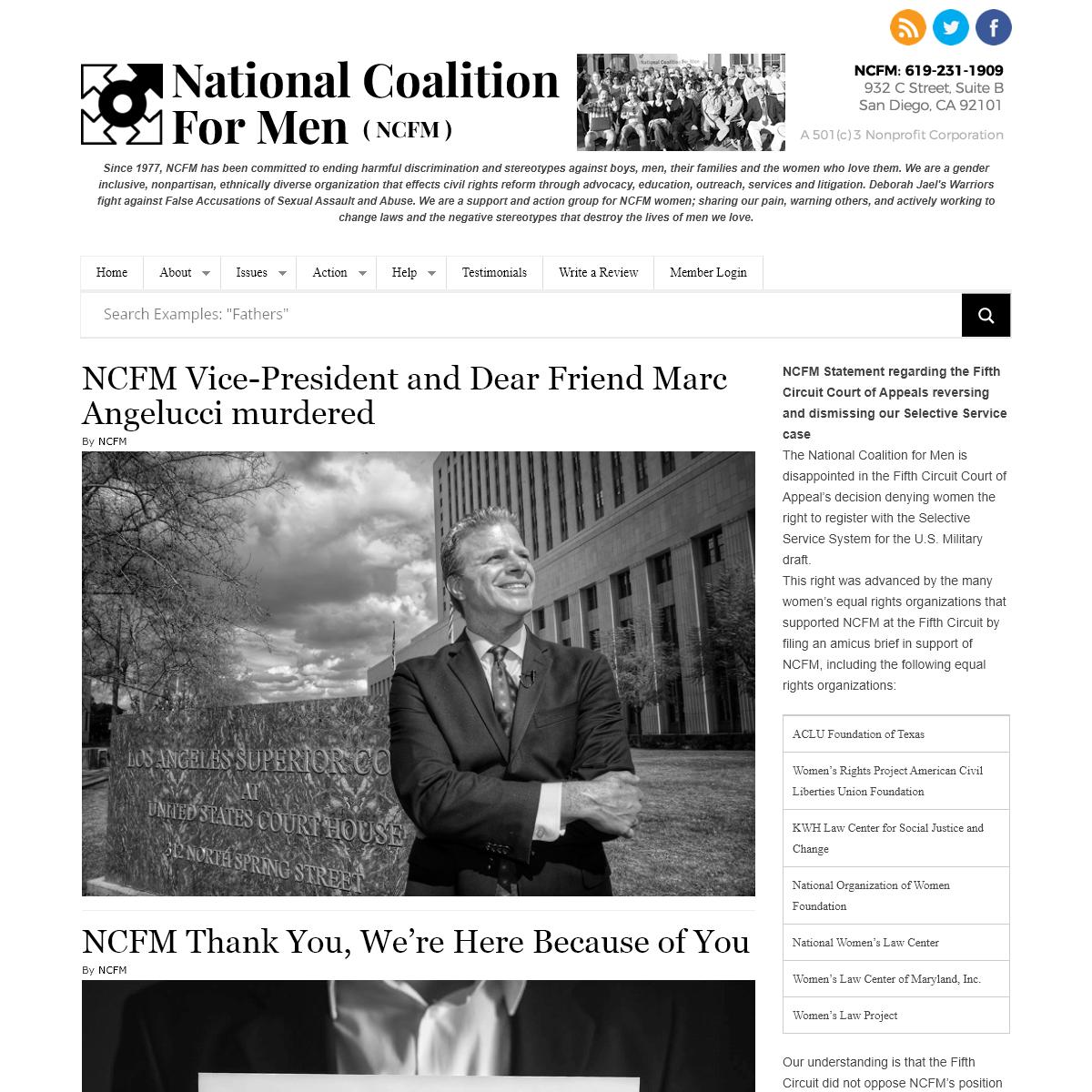 National Coalition For Men (NCFM) -